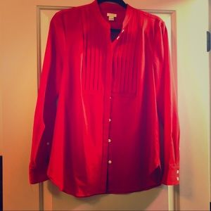 Bright red J Crew top
